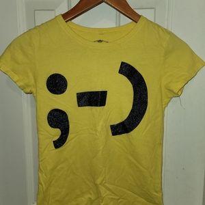 Yellow emoji t-shirt